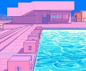 background, pink, and pixel image