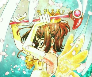 fan art, wings, and sakura card captor image