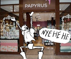 undertale, papyrus, and funny image