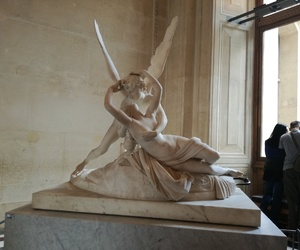cupid and psyche, louvre, and paris image