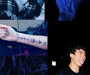 blue, wallpaper, and 5 seconds of summer image