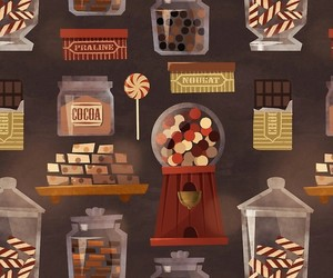 candy, illustration, and pattern image
