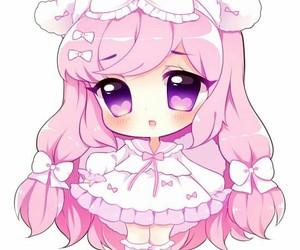 anime girl, cute, and chibi image