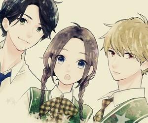 manga, hirunaka no ryuusei, and manga shoujo image