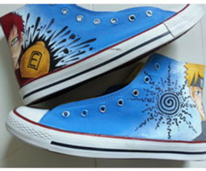 naruto canvas shoes image