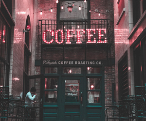 aesthetic, coffee, and lights image