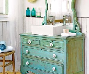 bathroom, shabby chic, and vintage image