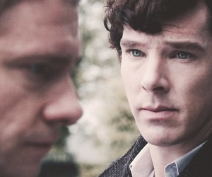sherlock, benedict cumberbatch, and Martin Freeman image