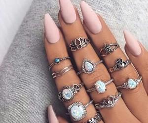 nails, hand, and nail art image