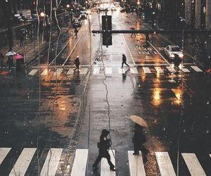 rain, city, and street image