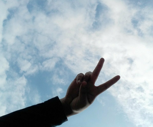 aesthetic, clouds, and hijab image