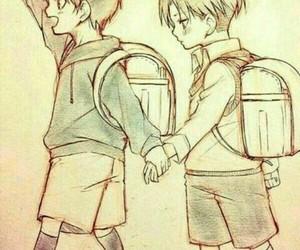 anime, shingeki no kiojin, and boys image