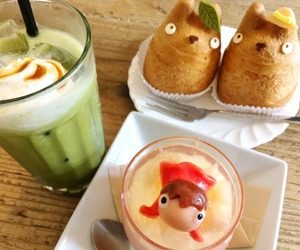 cream puff, food, and ghibli image