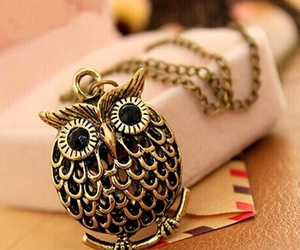 necklace, owl, and قلادة image