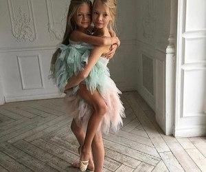beautiful, children, and cuddle image