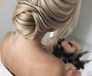 blonde, bridal, and hairstyle image