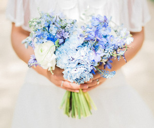 blue, fitness, and beautiful flowers image