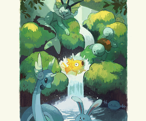 landscape, magikarp, and pokemon image