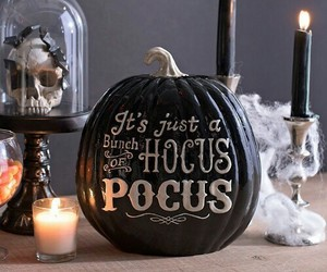 Halloween, pumpkin, and hocus pocus image