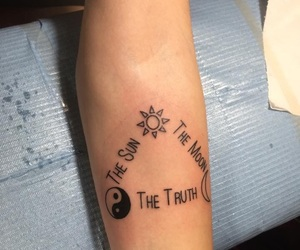 moon, sun, and tatto image