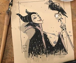 disney, maleficent, and ink image