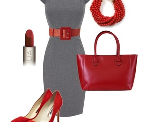 chic, fall, and red image