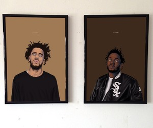 art, kendrick lamar, and j cole image