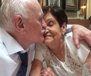 couple, kissing, and old love image