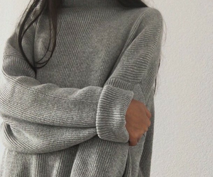 grey, sweater, and style image