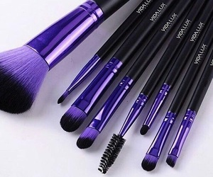 purple, makeup, and Brushes image