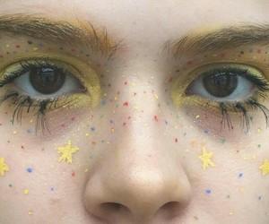 stars, eyes, and girl image