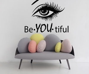 beautiful, wall decals, and beauty salon image