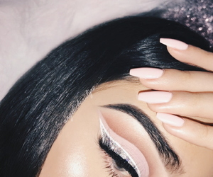 makeup, goals, and nails image