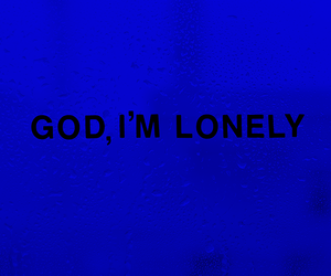 blue, lonely, and aesthetic image