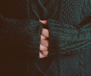 sweater, green, and hands image