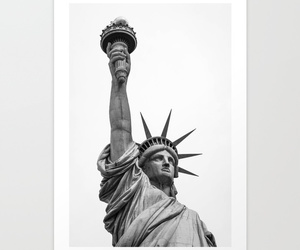 black and white, new york city, and society6 image