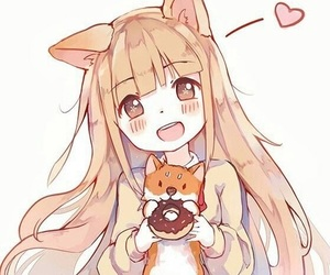 anime, kitty, and neko image