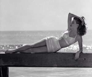 ava gardner, vintage, and beach image