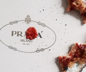 food, pizza, and Prada image