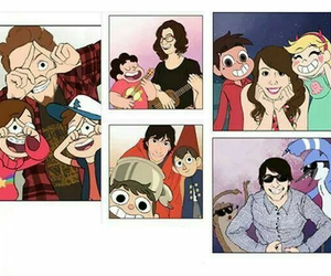 gravity falls, steven universe, and over the garden wall image