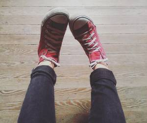 converse, ootd, and red converse image