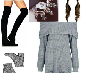 boots, clothes, and cosy image