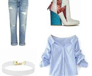 boots, clothes, and jeans image