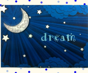 bedroom decor, moon and stars, and Dream image