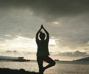 jetty, meditate, and pose image