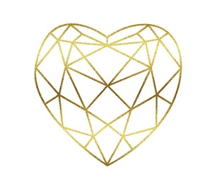 gold, ideas, and heart image
