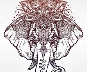 elephant, tattoo, and mandala image