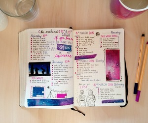 journal, pink, and bujo image