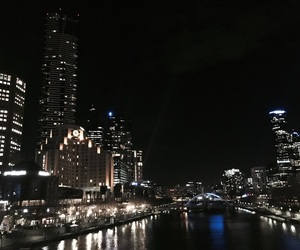 city, lights, and melbourne image