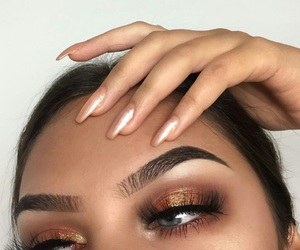 beauty, eyebrows, and fashion image